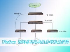 Windows 2003系统路由服务的配置方法