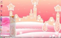 粉色世界win7桌面背景主题
