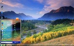 温哥华森林win7风景桌面