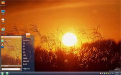 夕阳下的稻穗win7电脑壁纸