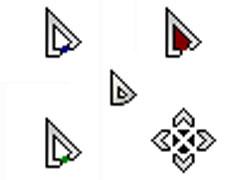 個性三角板鼠標指針