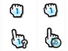 淺藍小手鼠標指針