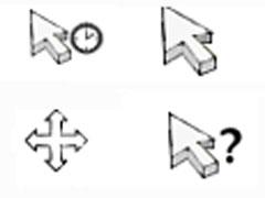 白色時鐘鼠標指針