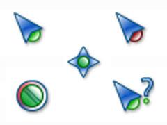 绿色小颗粒鼠标指针
