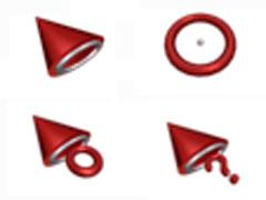 红色陀螺鼠标指针