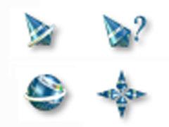 藍色3D地球鼠標指針