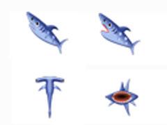 可愛鯊魚鼠標指針