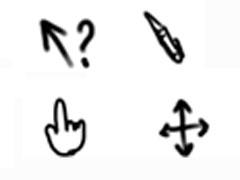 手绘手势鼠标指针