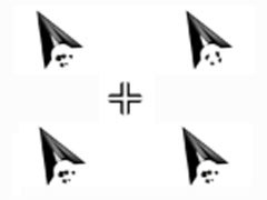 黑色骷髏頭鼠標指針