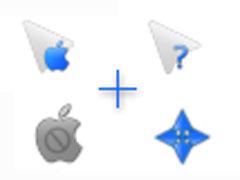 藍色蘋果鼠標指針