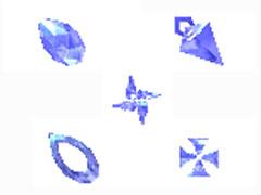 炫藍鉆石鼠標指針
