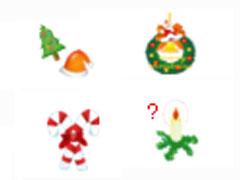 圣誕裝飾品鼠標指針