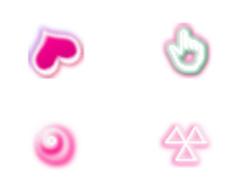 甜蜜粉色鼠標指針