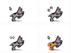 灰色小狗鼠标指针