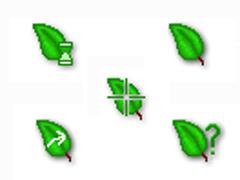 精美綠葉鼠標指針