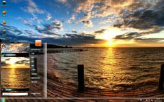 唯美海上日出风景主题
