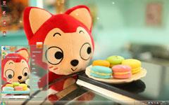 阿狸与甜点win7可爱主题
