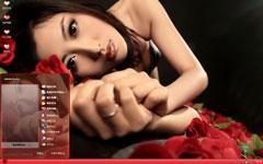 魅惑玫瑰女人xp主题