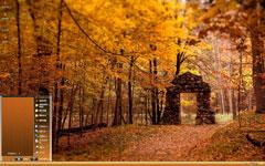 秋季枫叶林xp主题