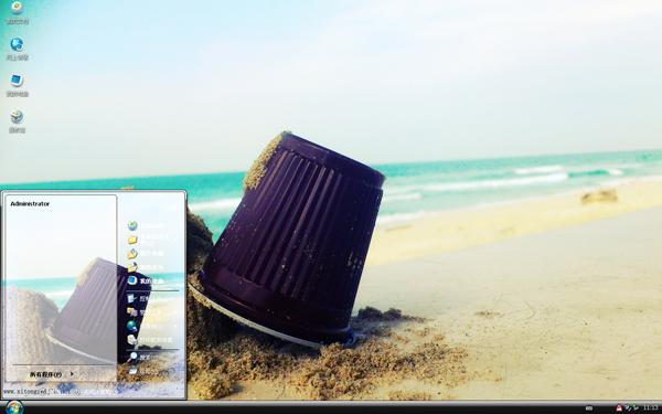 海岸堆沙的日子xp主题