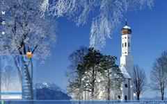 城堡雪景Win7主题