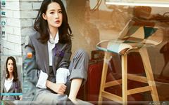 人气女星李沁时尚街拍Win7主题