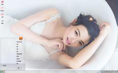 性感蕾丝美女清新养眼Win7主题