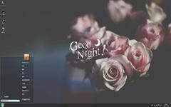 晚安粉红玫瑰Win7主题