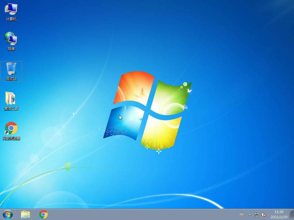雨林木风 GHOST Win7 64位旗舰版 V2021.02