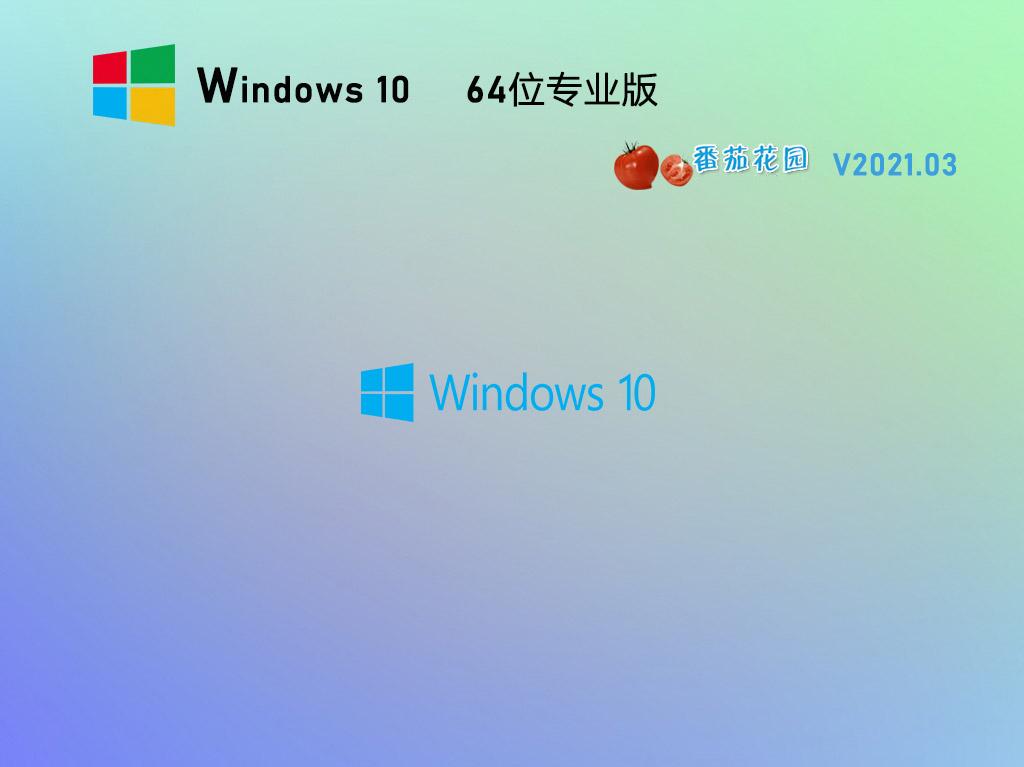 番茄花園Win10 64位全新專業版 V2021.03