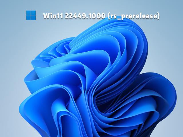 Win11 Build 22449.1000预览版 V2021