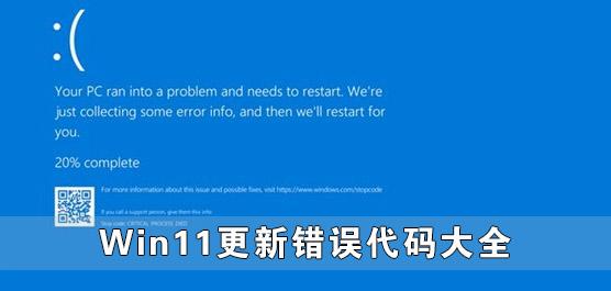 Win11更新错误代码大全