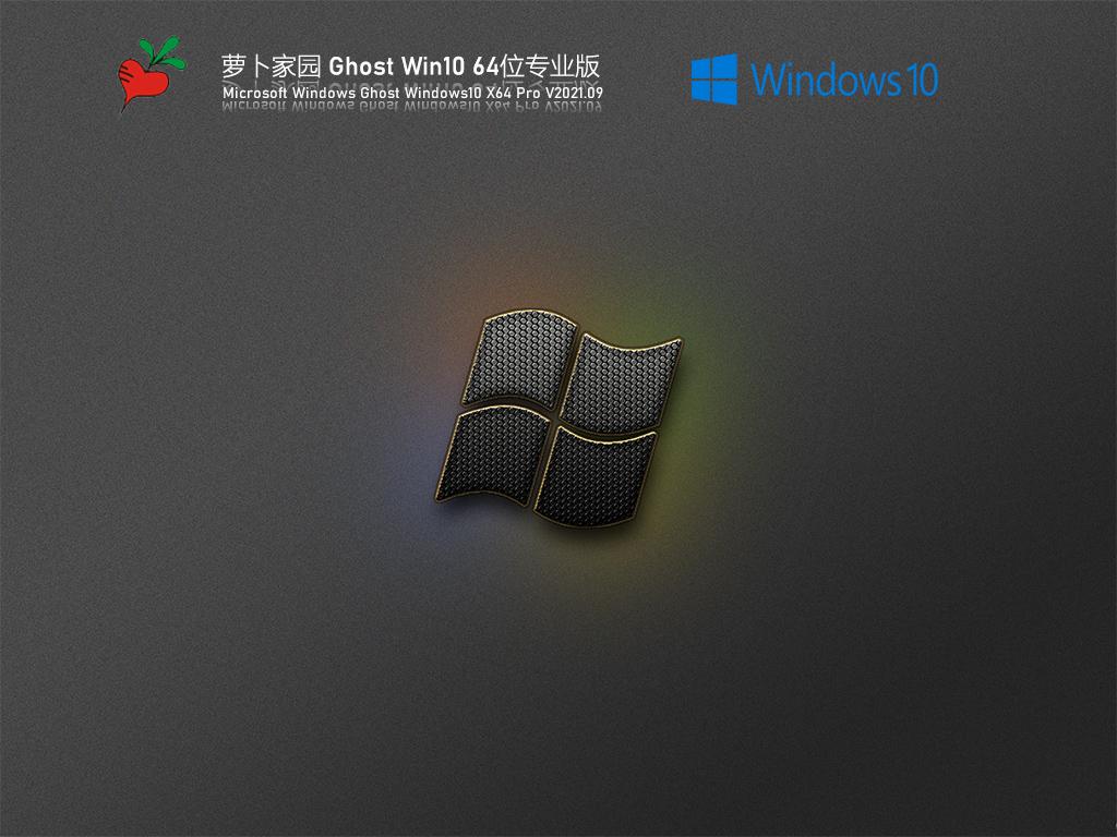新萝卜家园系统Ghost Win10专业版 V2021