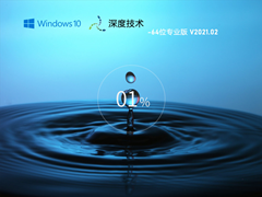 深度技術 GHOST Win10 64位專業版 V2021.02